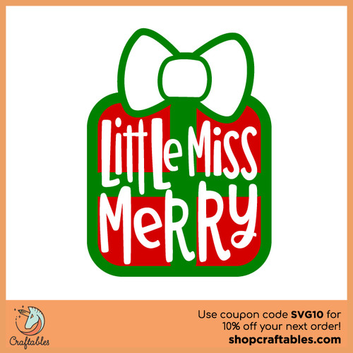 Free Little Miss Merry SVG Cut File