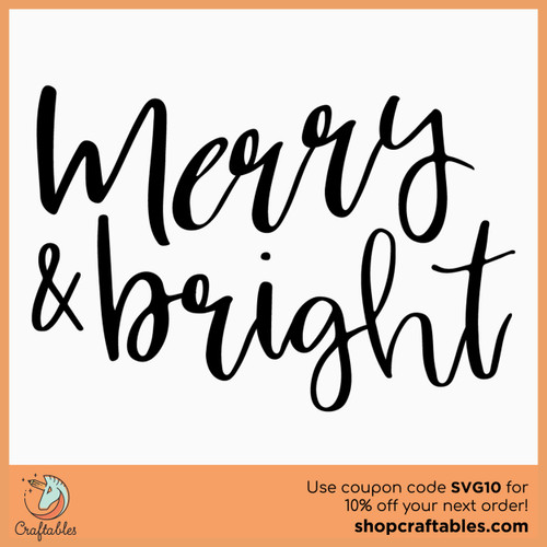 Free Merry & Bright SVG Cut File