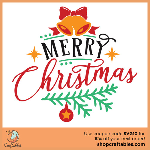 Free A Merry Christmas SVG Cut File