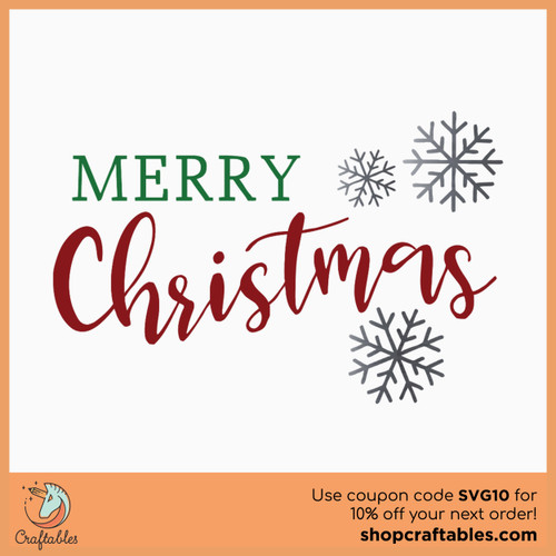 Free Merry Christmas SVG Cut File