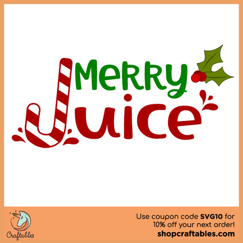 Free Merry Juice SVG Cut File