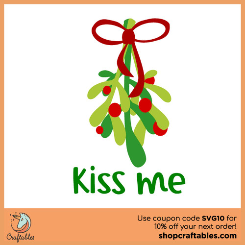 Free Mistletoe SVG Cut File