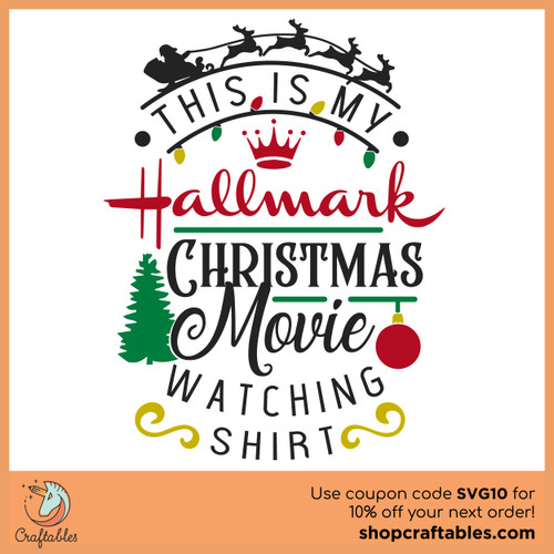 Free This Is My Hallmark Christmas Movie-Watching Shirt SVG Cut File