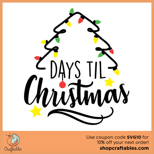 Free Christmas Countdown SVG Cut File