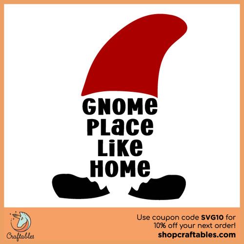 Free Gnome Place Like Home SVG Cut File