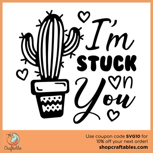Free I'm Stuck On You SVG Cut File