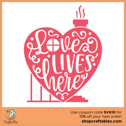 Free Love Lives Here SVG Cut File