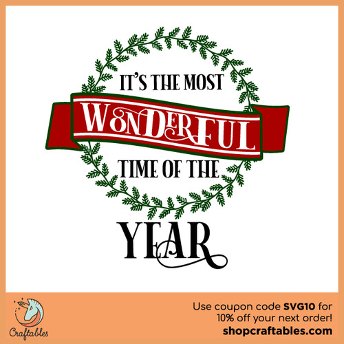 Free It's The Most Wonderful Time of the Year SVG Cut File