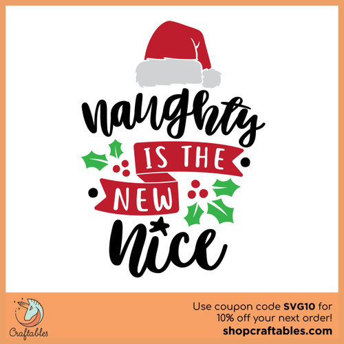 Free Naughty is the New Nice SVG Cut File