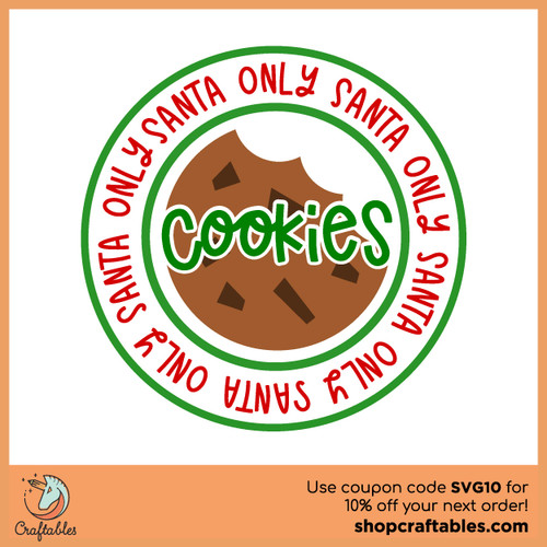 Free Santa 's Cookies Cam SVG Cut File