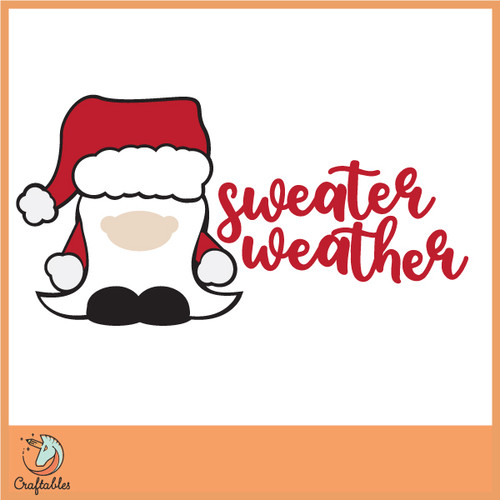 Free Sweater Weather SVG Cut File