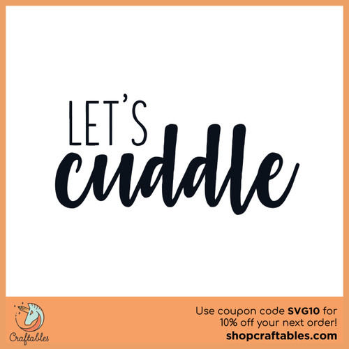 Free Let's Cuddle SVG Cut File