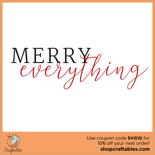 Free Merry Everything SVG Cut File