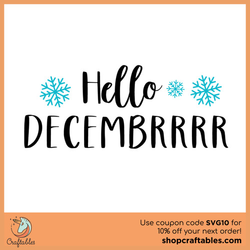 Free  Hello Decembrrrr SVG Cut File