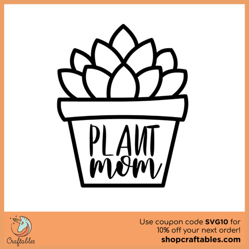 Free Plant-Mom SVG Cut File