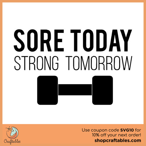 Free Sore Today Strong Tomorrow SVG Cut File