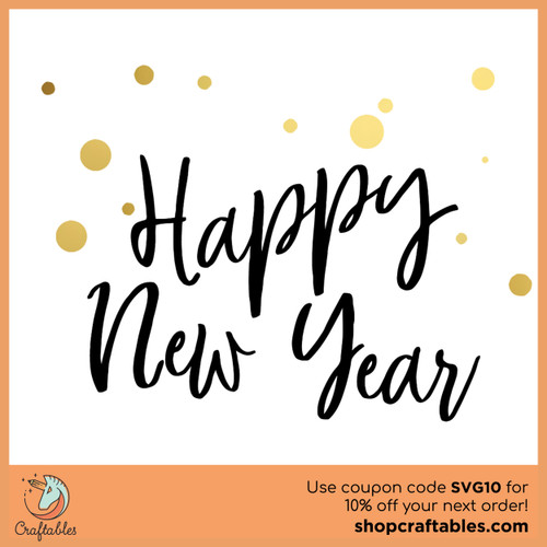 Free Happy New Year SVG Cut File