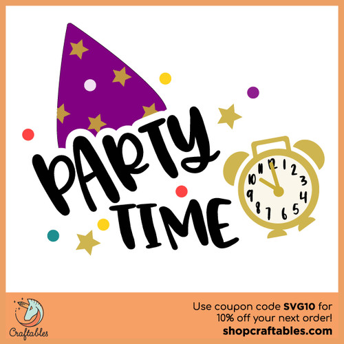 Free Party Time SVG Cut File