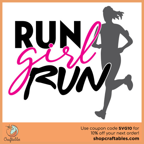 Free Run Girl Run SVG Cut File
