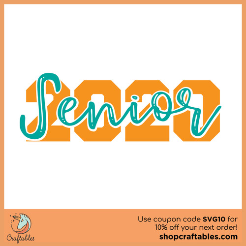Free Senior 2020 SVG Cut File