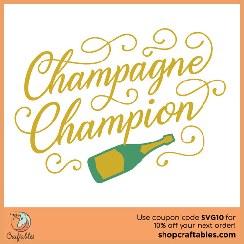 Free Champagne Champion SVG Cut File