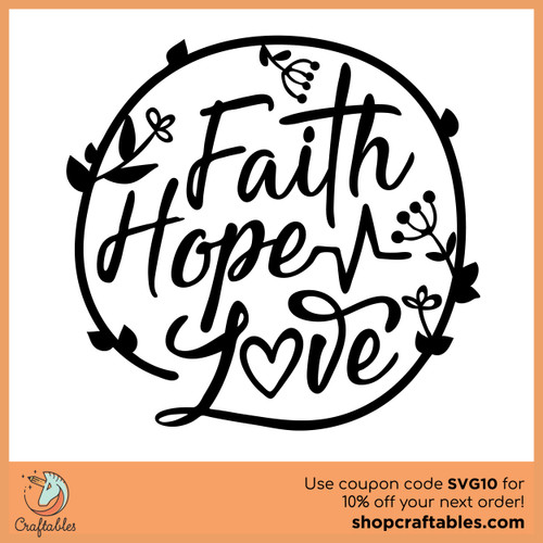 Free Faith Hope Love SVG Cut File