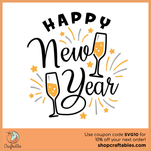 Free New Year SVG Cut File