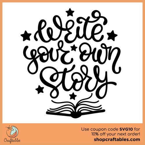 Free Write Your Own Story SVG Cut File
