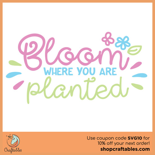 Free Bloom Where You Are Planted  SVG Cut File