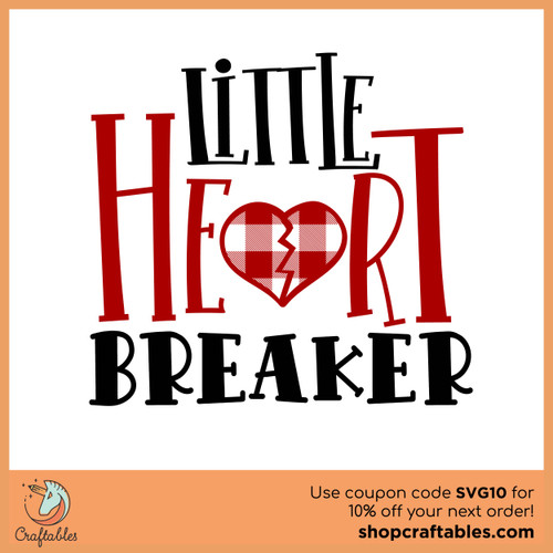 Free Little Heart Breaker SVG Cut File