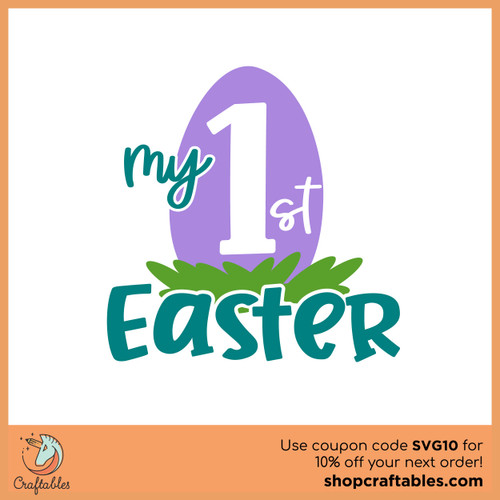 Free Baby's First Easter SVG Cut File