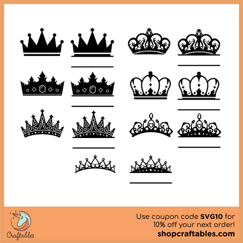 Free Crowns SVG Cut File