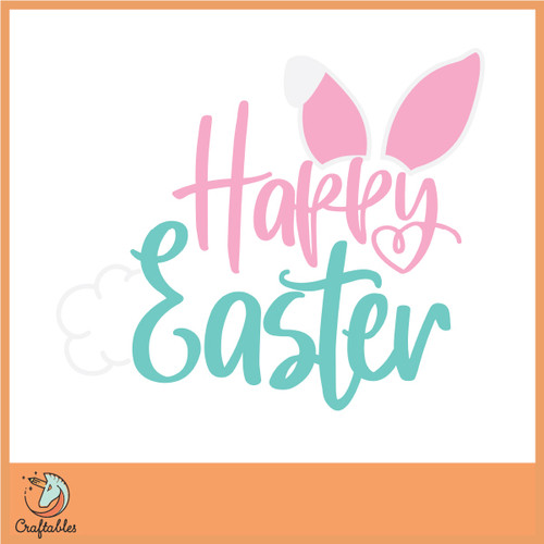 Free Happy Easter Bunny SVG Cut File