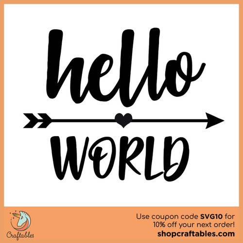 Free Hello World SVG Cut File