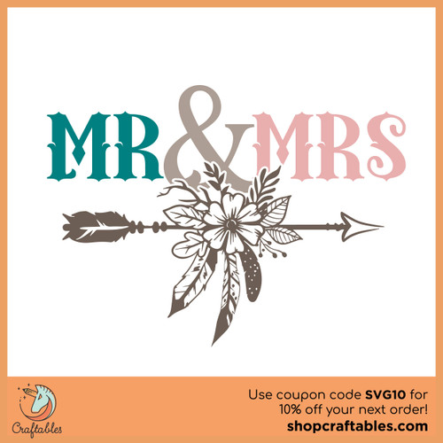 Free Mr. and Mrs. SVG Cut File