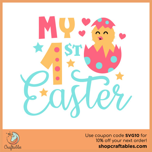 Free My First Easter SVG Cut File