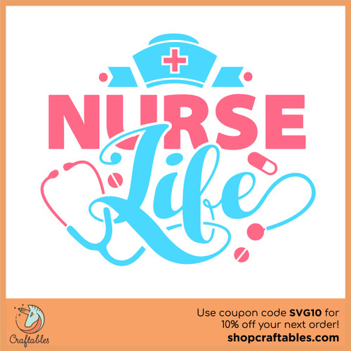 Free Nurse Life SVG Cut File