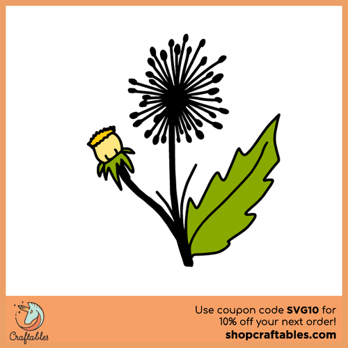 Free Dandelion SVG Cut File