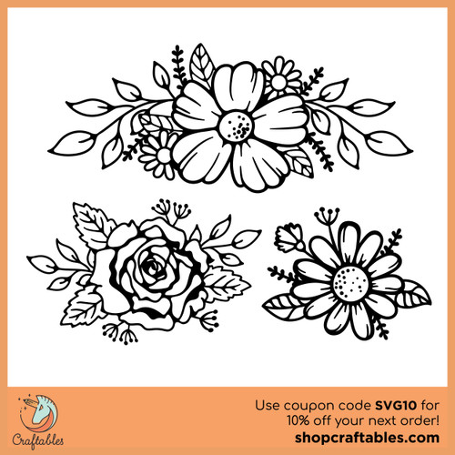 Free Flowers SVG Cut File