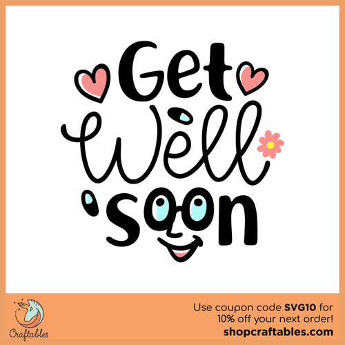 Free Get Well Soon SVG Cut File