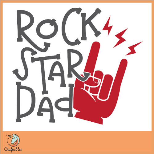 Free Rock Star Dad SVG Cut File