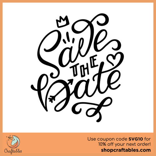 Free Save the Date SVG Cut File