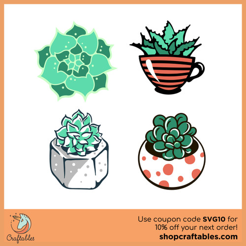 Free Succulents SVG Cut File