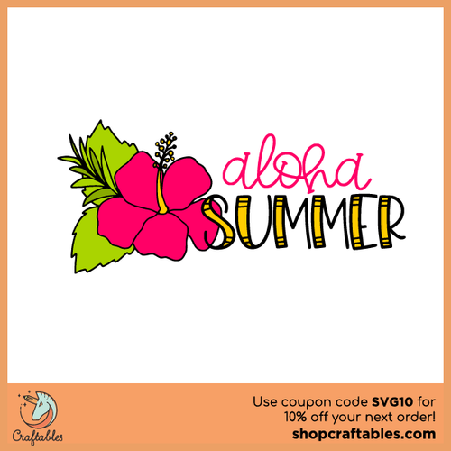 Aloha Summer Free SVG Cut File
