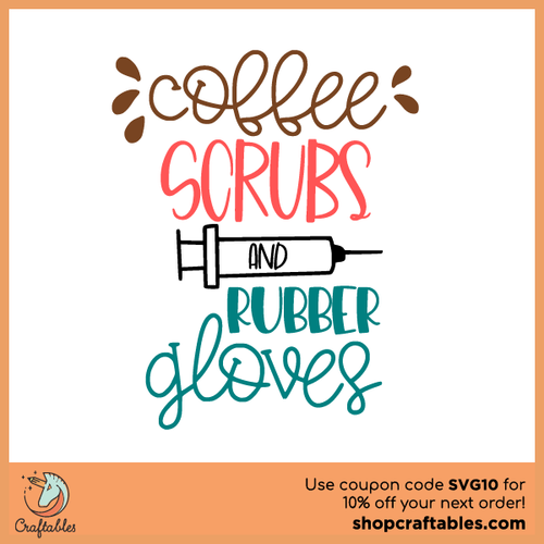 Free Coffee Scrubs and Rubber Gloves SVG Cut File