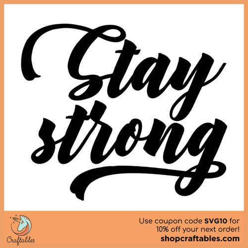 Free Stay Strong SVG Cut File