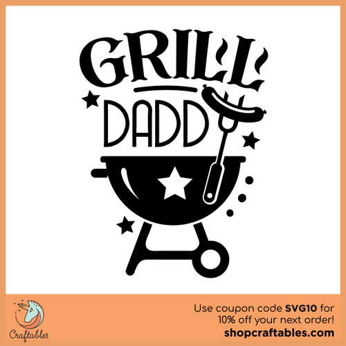 Free Grill Daddy SVG Cut File