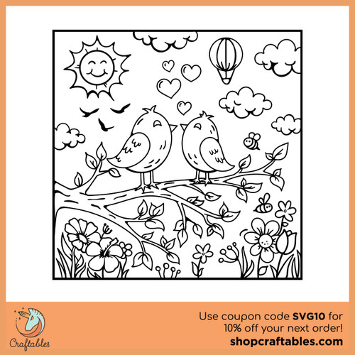 Free Coloring Page SVG Cut File