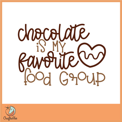 Free Chocolate is my Favorite Food Group SVG Cut File