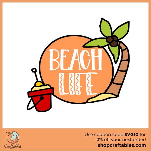 Free Beach Life SVG Cut File